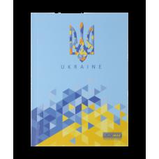 Блокнот UKRAINE, А5, 96 арк., клітинка, тверда картонна обкладинка, блакитний