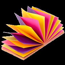 """Блок паперів для нотаток NEON, склейка """"гірлянда"""", 76х76 мм, 100 арк., асорті"""