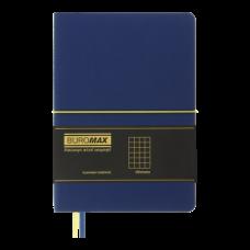 Блокнот  діловий UNIQUE, А5, 96 арк., клітинка, синій з жовтим, шт.шкіра