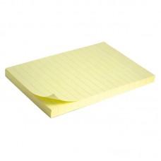 Блок паперу з клейким шаром 100x150мм,100арк.лінія