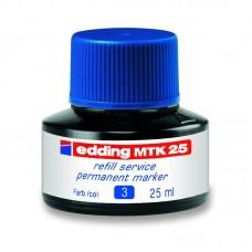 Чорнило для заправки Permanent e-MTK25 синє