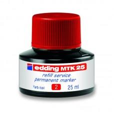 Чорнило для заправки Permanent e-MTK25 червоне