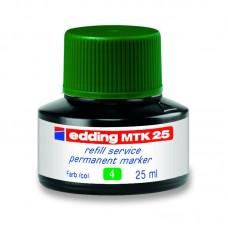 Чорнило для заправки Permanent e-MTK25 зелене