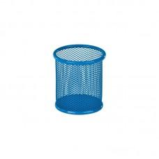 Підставка для ручок кругла 80х80х100мм, мет, блакитна