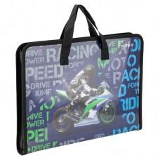 Папка-портфель на блискавці, 1 відділ., A4 Kite, Racing