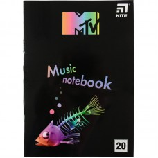 Зошит для нот А4, 20 л, MTV-2