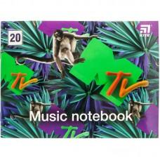 Зошит для нот А5, 20 л, MTV-1