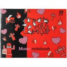 Зошит для нот А5, 20 л, MTV-2