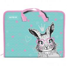 Папка-портфель на блискавці, 1 відділ., A4 Kite, Cute Bunny