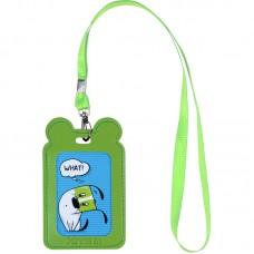 Бейдж на шнурку вертикальний, зелений