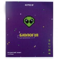 Зошит предметн. 48 арк.,кл., гібр лак з УФ, Pixel, біологія
