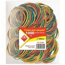 Гумки для грошей 1000г кольорові